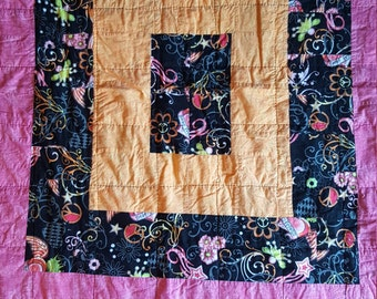 Peace and Love 70's Quilt