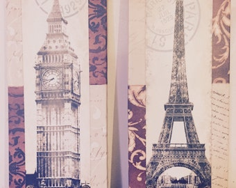 London and paris canvas wall art