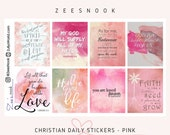 Christian Daily Stickers - Pink