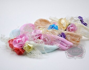 Nylon Flower Headband Newborn Headband Baby Girl Headband Newborn Photo Prop Newborn Photography