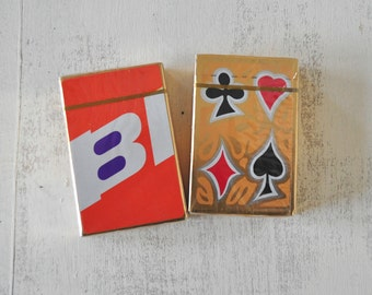 Vintage BB Playing Cards, Plastic Coated, NOS, Sealed Package