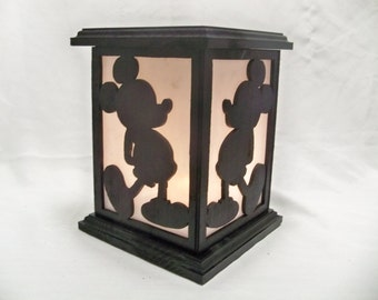Mickey wooden lantern