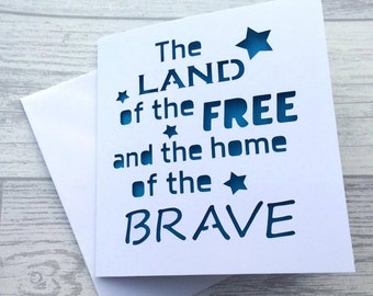 Independence day, indepence day card, 4th july card, 4th july, fourth july, fourth july card,card for ID, america card, card for 4th july