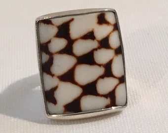 Conch Sell Sterling Silver 925 Statement Ring Artisan T Tucker Thomas Tucker Jewelry