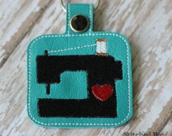 Heart Sewing Machine Keychain