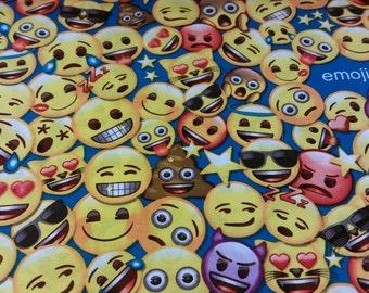 Emoji bedroom d cor etsy for Emoji fabric