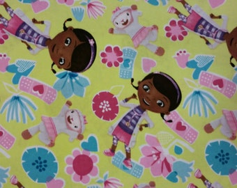 Crib Sheet / Toddler Bed Sheet made with Doc McStuffin Fabric