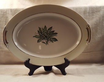 Large Antique Platter- Craftsman China Lilly of the Valley