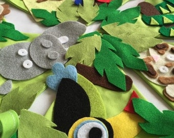 Jungle animal theme bunting decoration