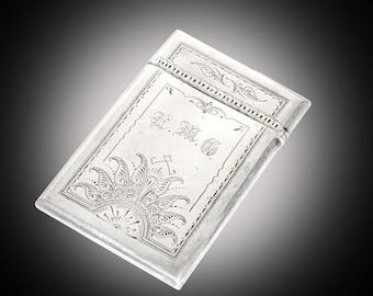 Antique Gorham sterling card case 1875