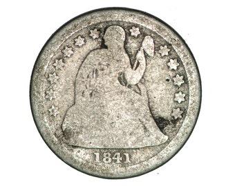 US Seated Liberty dime 1841-O        bn100