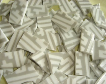China Mosaic Tiles - Gray & White Lines mosaic tiles