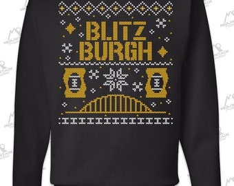 "Blitzburgh Pittsburgh Steelers ""Ugly Christmas Sweater' Sweatshirt"