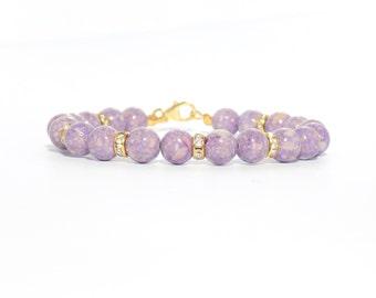 purple bracelet, purple gem bracelet, riverstone bracelets, bracelets, womens bracelets, gift for her