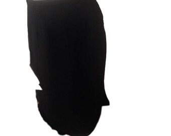 Valerie Stevens Pure Silk Black Skirt - Size 14