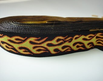 7/8'' Fire Woven Jacquard Ribbon for Dog Collars
