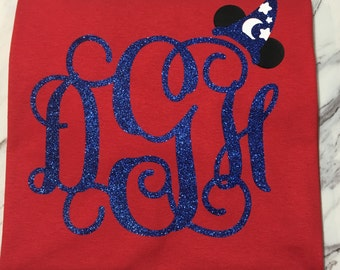 Fantasia inspired Monogram Mouse design T-shirt. Perfect for your trip to Disney!