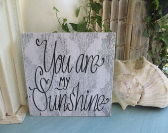 "Wood Sign, ""You are my Sunshine"", Kid's Room Decor, Nursery Decor, Inspirational Quote"