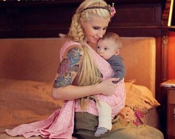 Mei Tai - Daiesu Tatami Rose - Mei Tai Baby Carrier - Baby Wrap - Woven Baby Wrap - Baby Carrier - Wrap Conversion Mei Tai