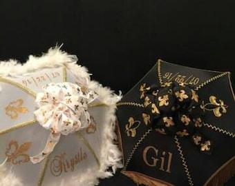 Second line Umbrellas, New Orleans Traditional Wedding Parasols, Destination Weddings New Orleans