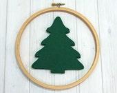 Felt Evergreen Trees - Large, 6 pieces - Woodland - Christmas Tree - Holiday Crafts - Felt Applique