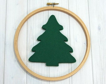Felt Evergreen Trees - Large, 6 pieces - Woodland - Christmas Tree - Holiday Crafts - Felt Applique