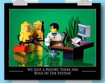 Computer Programmer Office Decor - Computer Humor Geekery, Wall Art - Original LEGO® Art, Toy Photography