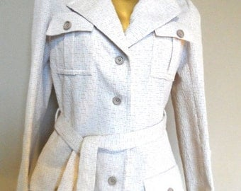 40% OFF Vintage 1960's Pant Suit * Oatmeal Color . Polyester Doubleknit . Di COSTA . Size 10 . Excellent Vintage Condition
