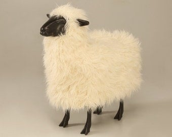 Life Size Lalanne Sheep in Dark Resin ( in the style of)