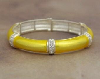 Yellow Jillian Stretch Bangle Bracelet - 57721