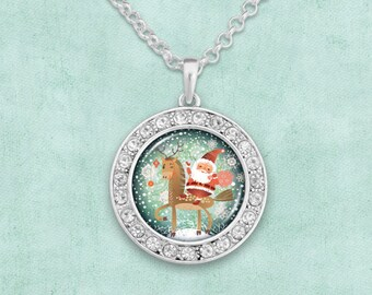 Cute Santa Artisan Necklace - 57868