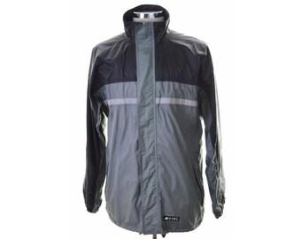 K-Way Mens Windbreaker Jacket Medium Grey Black