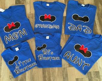 Mickey and Minnie Family Shirts