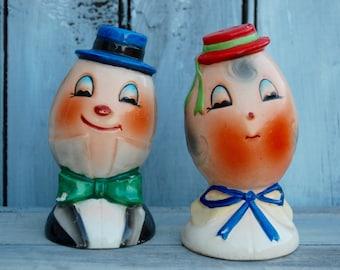 Humpty Dumpty Salt Shaker, Humpty Dumpty, Anthropomorphic Egg Shaker, Humpty Collectible, Salt and Pepper Shakers, Egg Salt Shaker, Kitschy