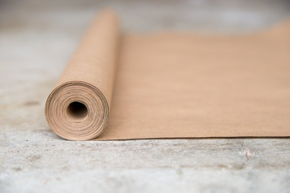 Brown kraft paper roll 20 ft gift wrapping paper paper for Brown craft paper rolls