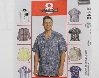 Mens Shirt UNCUT Sewing Pattern, McCalls 2 149, Size 38 to 40