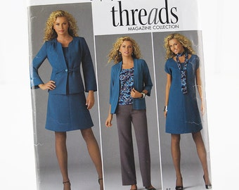 Plus Size Dress Top Pants, Jacket and Cardigan, UNCUT Sewing Pattern, Simplicity 2474, Size 20W - 28W
