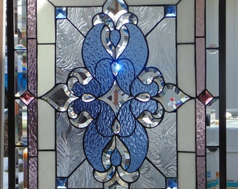 Stained Glass Window Hanging 30 X 23 1/4