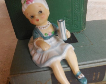 Vintage UCAGCO Colonial Lady Shelf Sitter with Vase