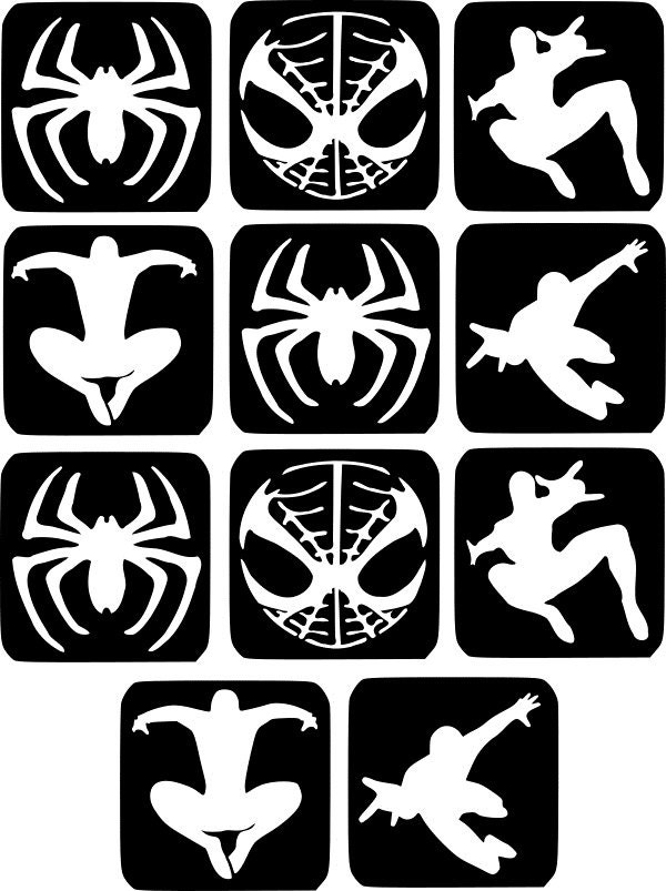 refill stencils only 24 11 x spider man glass etching stencils painting airbrush glitter wine glass craft from thebeautyboxboutique on etsy studio