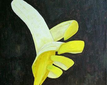 Banana thumbs up greetings card