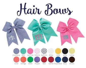 Monogrammed Hair Bow - Hair Bow