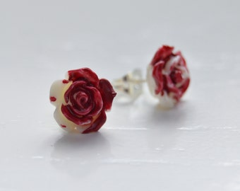 Painting the Roses Red Earrings