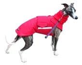 Extra Warm Winter Dog Coat - Dog Jacket with snood + underbelly protection - Black Dog Coat - Waterproof jacket - Custom made for your dog