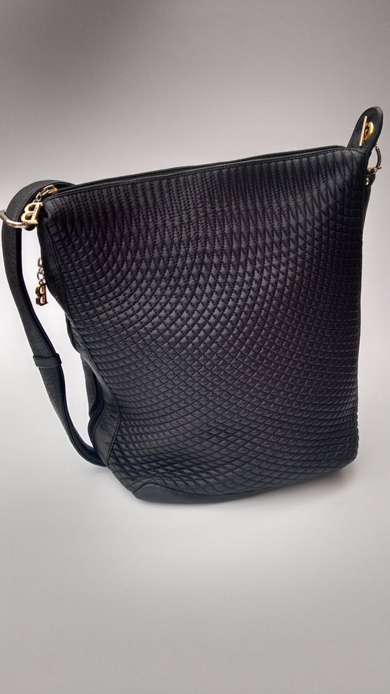 Sale Bally Vintage Black Quilted Leather Shoulder Bag