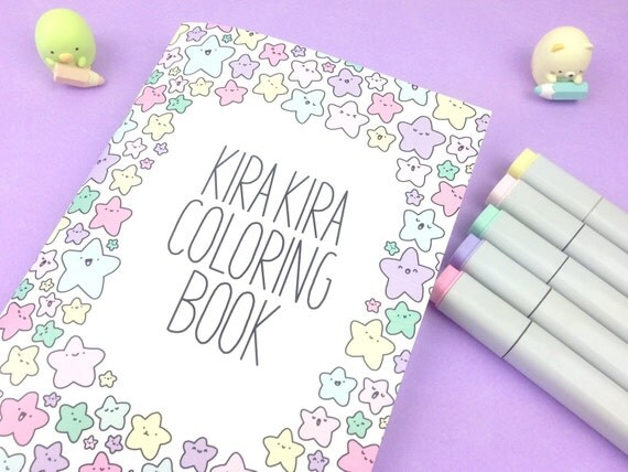 Kirakira Coloring Book Kawaii Doodle Coloring Book