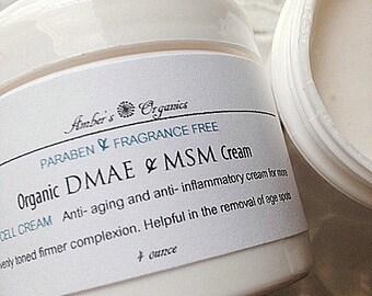 "Organic DMAE & OptiMSM Perfecting Anti-aging Cream. Tones/Tightens ""Beauty Mineral"""