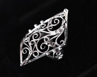 handmade filigree ring (sterling silver Ag 925)