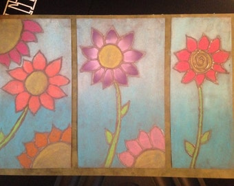 Colored Pastel Flowers