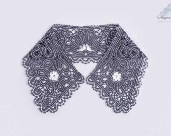Bobbin lace Collar Shirt # 19 Russian bobbin handmade lace